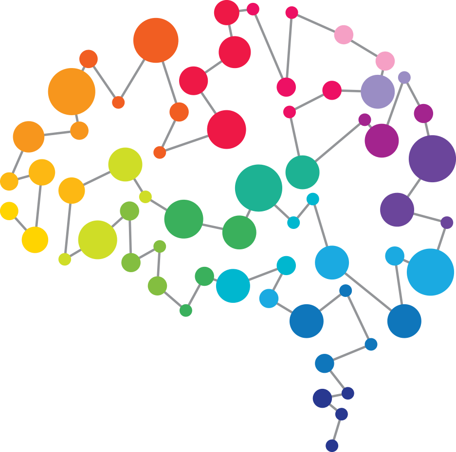 Brain linked dots image