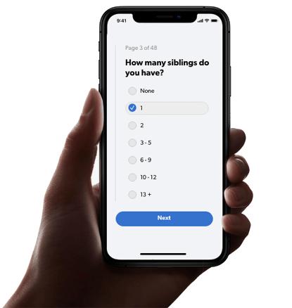 The Cambridge Code iPhone questionnaire